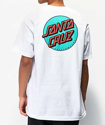Santa Cruz Other Dot White & Teal T-Shirt
