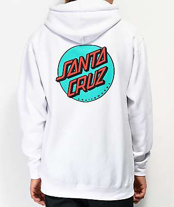 Santa Cruz Other Dot White Hoodie