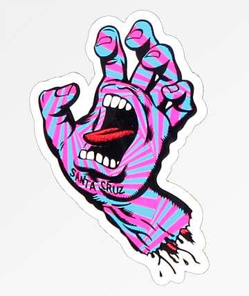 Santa Cruz Party Hand Sticker