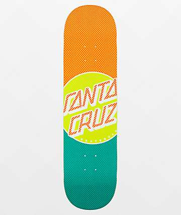 "Santa Cruz Process Dot Wide Tip 8.25"" Skateboard Deck"