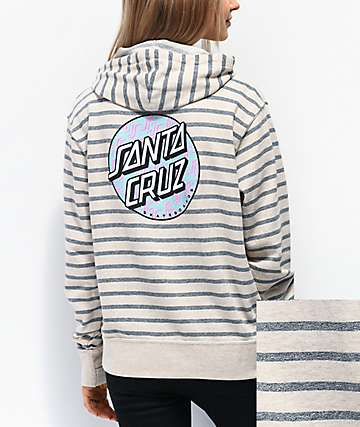 Santa Cruz Repeat Tan & Grey Hoodie