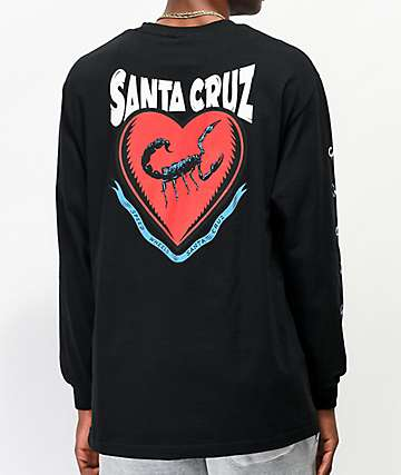 Santa Cruz Sacred Heart Black Long Sleeve T-Shirt