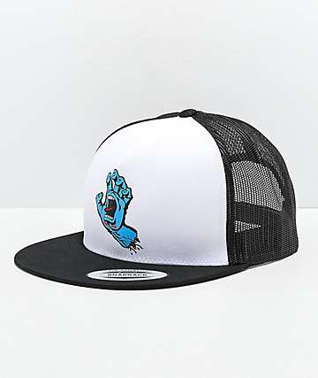 Santa Cruz Screaming Hand Black & White Trucker Hat