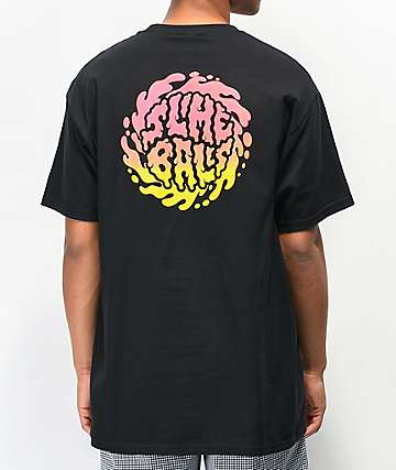 Santa Cruz Slime Balls Dirt Locks Black T-Shirt