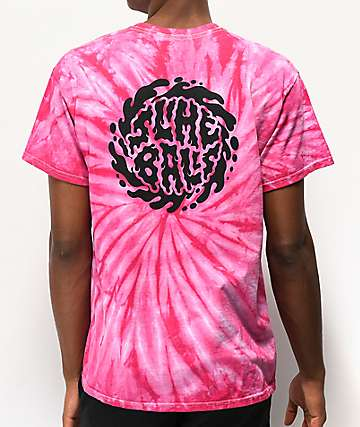 Santa Cruz Slime Balls Dirt Locks Pink Tie Dye T-Shirt
