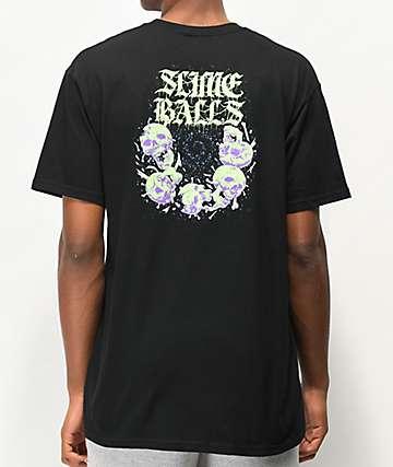 Santa Cruz Slime Balls Skullbasher camiseta negra