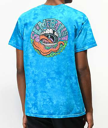 Santa Cruz Slime Balls Slarve Blue Crystal Washed T-Shirt