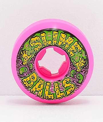 Santa Cruz Slime Balls Swampballs 54mm 97a Vomit Pink Skateboard Wheels