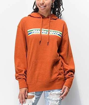 Santa Cruz Stripe Strip Orange Hoodie