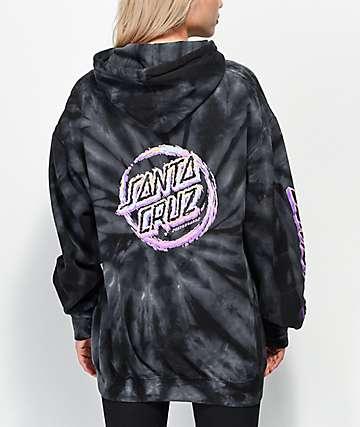 Santa Cruz Throwdown Dot sudadera con capucha negra