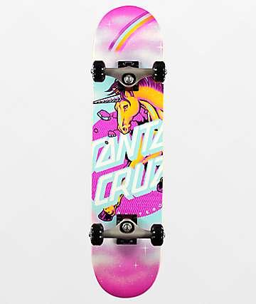 "Santa Cruz Unicorn Dot 7.25"" Skateboard Complete"
