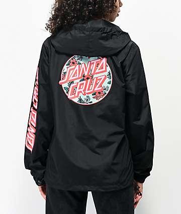 Santa Cruz Vacation Dot Anorak chaqueta cortavientos negra