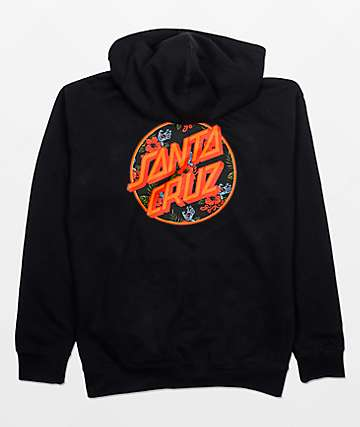 Santa Cruz Vacation Dot Black Hoodie