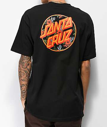 Santa Cruz Vacation Dot Black T-Shirt