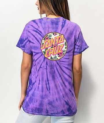 Santa Cruz Vacation Dot camiseta tie dye morada