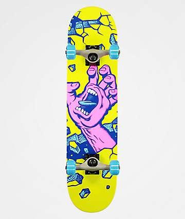 "Santa Cruz Wall Hand 7.5"" Skateboard Complete"