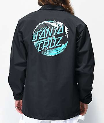 Santa Cruz Wave Dot chaqueta entrenador negra