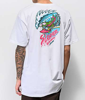 Santa Cruz Wave Slasher White T-Shirt