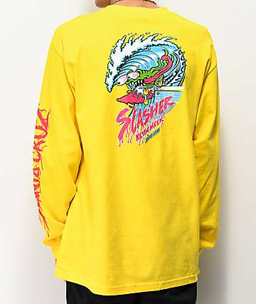 Santa Cruz Wave Slasher Yellow Long Sleeve T-Shirt