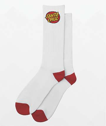 Santa Cruz White 2 Pack Crew Socks