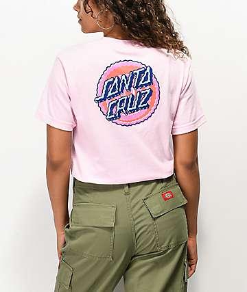 Santa Cruz Wiggle Dot camiseta rosa
