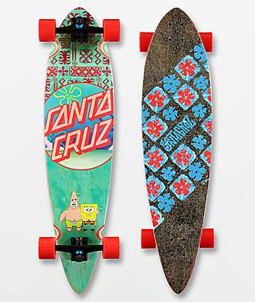 "Santa Cruz x SpongeBob SquarePants Best Buds 39"" Pintail Longboard Complete"