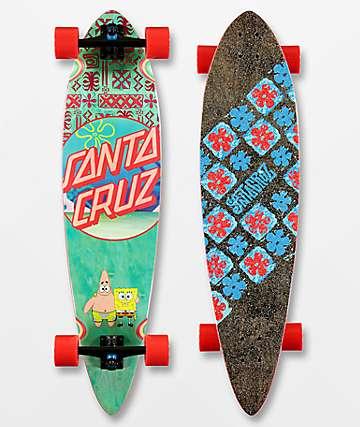 "Santa Cruz x SpongeBob SquarePants Best Buds 39"" Pintail longboard completo"