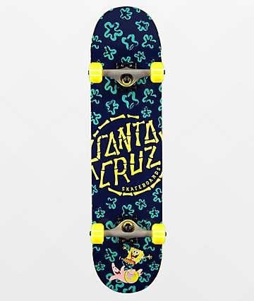 "Santa Cruz x SpongeBob SquarePants Floral Coral 7.75"" tabla de skate"