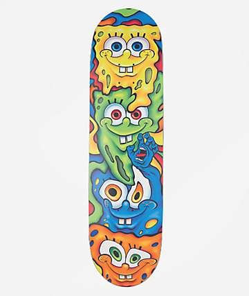 "Santa Cruz x SpongeBob SquarePants Melt Everslick 8.5"" Skateboard Deck"