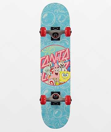 "Santa Cruz x SpongeBob SquarePants Spongegroup 6.75"" Skateboard Complete"