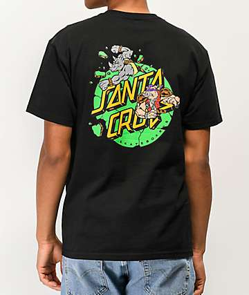 Santa Cruz x TMNT Bebop & Rocksteady Black T-Shirt