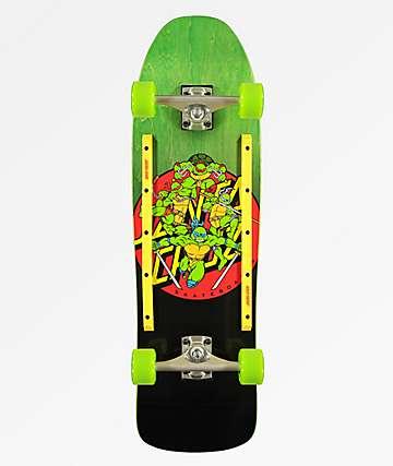 "Santa Cruz x TMNT Turtle Power 9.3"" Skateboard Complete"