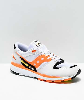 Saucony Azura White, Orange & Black Shoes