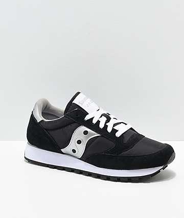 Saucony Jazz Original Black & Silver Shoes