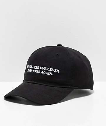 Sausage Never Ever Ever Black Strapback Hat