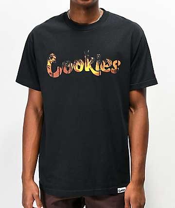 Scarface x Cookies Tropic Sunset camiseta negra