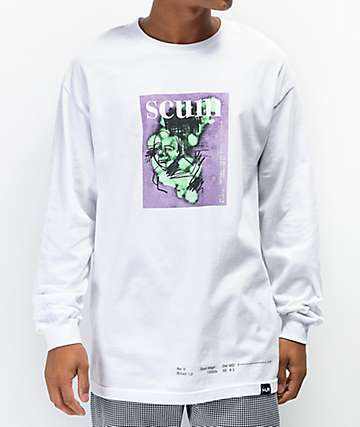 Scum Pondscum White Long Sleeve T-Shirt