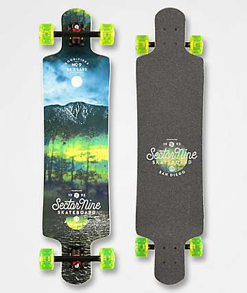 "Sector 9 Midnight Fault Line 39"" Drop Down Longboard Complete"