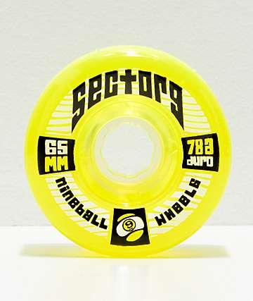 Sector 9 Nineballs 65mm 78a Lime Green Longboard Wheels