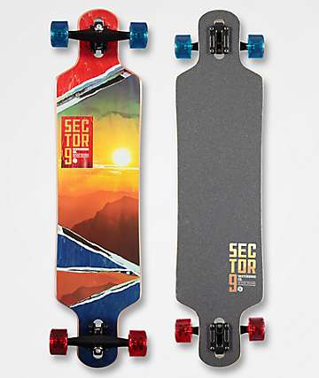 "Sector 9 Vista Meridian 40"" Drop Through Longboard Complete"