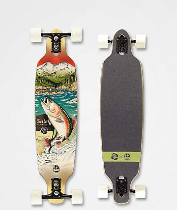 """Sector 9 x Salty Timbers Tackle Fractal 36"""" Longboard Complete"""