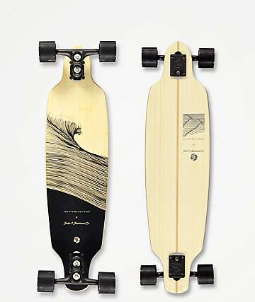 "Sector 9 x The Minimalist Wave Shacked Shoots 33.5"" Drop Through Longboard Complete"
