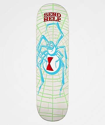 "Send Help White Widow 8.5"" Skateboard Deck"