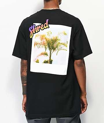 Shred Visit Heaven camiseta negra