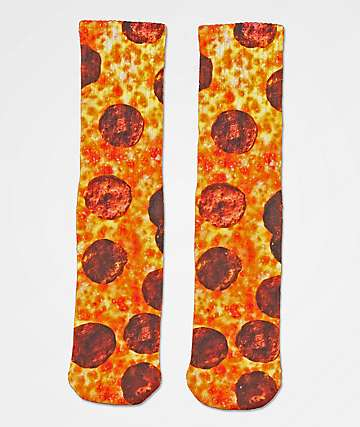 Skate Mental Pepperoni Pizza Crew Socks