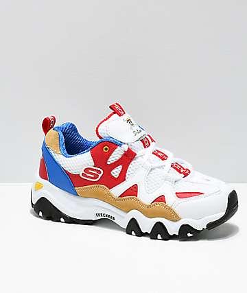 Skechers Multicolor X One Piece D'lites 2 Low Top Sneaker Shoes for men