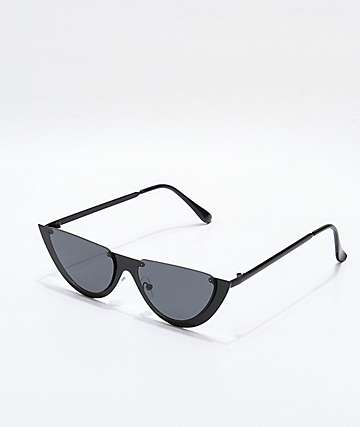 Skinny Matte Black Sunglasses