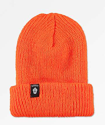 Slushcult Cross Cup Neon Orange Beanie
