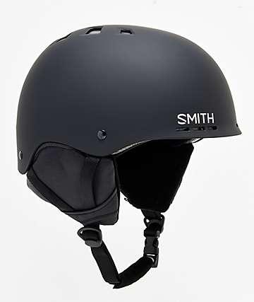 Smith Holt casco de snowboard en negro mate