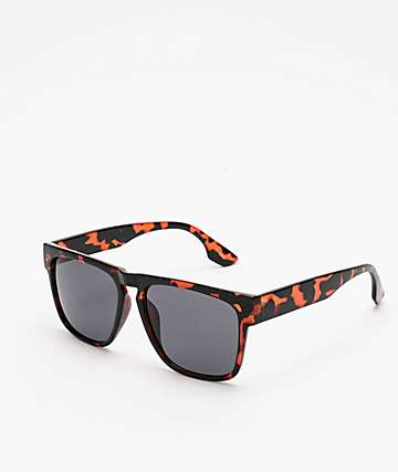 Smoke Tortoise & Black Square Sunglasses